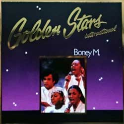 BONEY M ''Golden Stars (International)'' (1991 German press, RARE CLUB edition, golden foil stamping, 68 753 3, matrix SONOPRESS D-8550/68753-3 A, vg+/near mint) (CD)