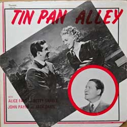 винил LP ALICE FAYE, BETTY GRABLE, JOHN PAYNE, JACK OAKIE ''Tin Pan Alley'' (1978 USA press, gatefold, STK-110, vg+/vg+)