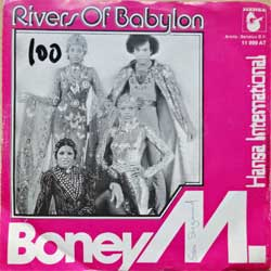 "винил LP BONEY M ""Rivers Of Babylon - Brown Girl In The Ring"" (7""single) (1978 German press, different red/b/w cover, ex/ex-, wofc, wobc)"