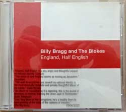 BILLY BRAGG And THE BLOKES ''England, Half English'' (2002 UK press, sticker, COOK CD 222, mint/mint) (CD)