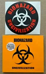 BIOHAZARD ''Uncivilization'' (2001 German press, limited edition, embossed, 3 bonus-tracks, 2 stickers, SPV 087-72390 CD, ex-/mint/ex+) (digipak) (CD)