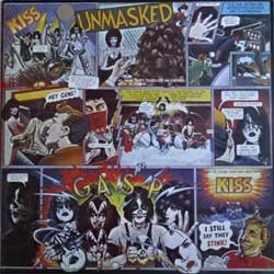 винил LP KISS ''Unmasked'' (1980 RI 1994 Russian RARE press, holographic sticker, П93 00589/90, ex+/ex+)