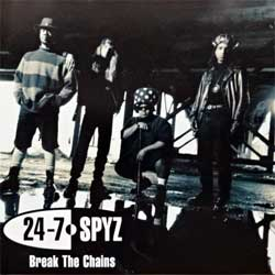 24-7 SPYZ ''Break The Chains'' (1992 USA RARE PROMO press, PRCD 4850-2, ex-/near mint) (CD)