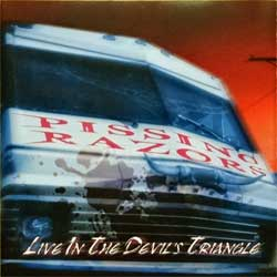 PISSING RAZORS ''Live In The Devil's Triangle'' (2002 German press, SPITCD109/GAS 0000109 SPR, matrix A271977-01 manufactured by optimal media production, mint/mint)(CD)