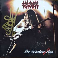 VADER ''The Darkest Age Live '93'' (1994 RI 1996 Norway RARE press, autographed!, SERE 007, ex-/ex-) (CD) (D)