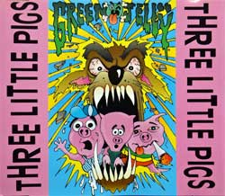 GREEN JELLY ''Three Little Pigs'' (3-track MCD) (1993 German press, 74321 151422, matrix Sonopress H-0473/4321151422 A 2, ex-/near mint) (CD)