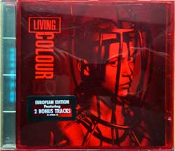 LIVING COLOUR ''Stain'' (1993 EU press, original red-tinted jewel-case with clear tray, original sticker, 2 bonus-tracks for European edition, 472856 2, matrix DADC Austria 01-472856-10 11 C6, mint/mint)  (CD)