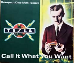 TESLA ''Call It What You Want'' (3-track MCD) (1991 German press, GED 21672, matrix Sonopress F-5896/GED 21672 A, near mint/mint) (CD)