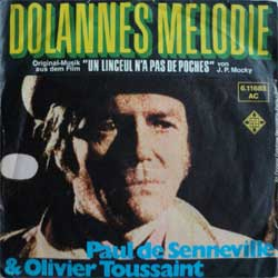 винил LP JEAN-CLAUDE BORELLY ''Dolannes Melodie  (Un Linceul N'a Pas De Pouches OST)'' (7''single) (1975 German press, ex+/ex-)