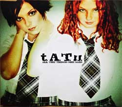 T.A.T.U. ''All The Things She Said'' (4-track MCD) (2002 German press, 019 331-2, matrix 00440 019 331-2 01#51310919 C Made in Germany by Universal M&L, ex-/mint) (CD)