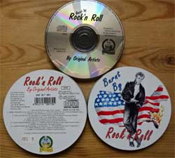 CD IN METAL BOX: va BURNT BY ROCK'N ROLL (1993 EEC(Italy) press, DNR 017 RR1, matrix PILZ CD CDCD 1021 [Ar 30623 D], mint/ex) (CD)