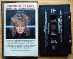 аудиокассета BONNIE TYLER ''Faster Than The Speed Of Night'' (1983 Canada press, Dolby, Dolby, WPCCT-90683, mint/mint) (MC4635)
