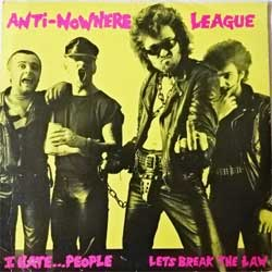 винил LP ANTI-NOWHERE LEAGUE ''I Hate… People'' (4-track 12'') (1982 USA press, FEP1301, vg+/vg+)