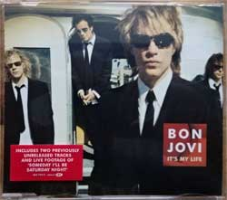BON JOVI ''It's My Life'' (4-track MCD) (2000 German press, original hype sticker, 562 754-2, matrix UNIVERSAL M&L, mint/mint) (CD)