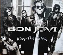BON JOVI ''Keep The Faith'' (4-track MCD) (1992 German press, 864 481-2, matrix 864 481-2 01+, ex-/mint) (CD)