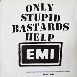 винил LP CONFLICT ''Only Stupid Bastards Help EMI'' (1985 UK press, THIS IS NOT 5.99, ex+/ex)