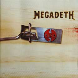 MEGADETH ''Risk'' (1999 EU press, 7243 4 99134 0 0, ex+/near mint) (CD)