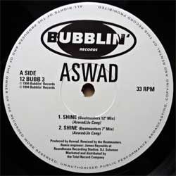 винил LP ASWAD ''Shine'' (4-track 12'') (1994 UK press, 12 BUBB 3, vg+/sfc)