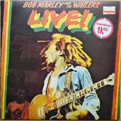 винил LP BOB MARLEY AND THE WAILERS ''Live!'' (1975 Portugal press, 2 price stickers, 10.289729.40, near mint/ex)