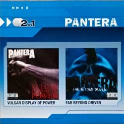 PANTERA ''Vulgar Display Of Power/Far Beyond Driven'' (1991/1994 RI 2008 German press, 8122-79910-9, matrixes 756781758-2.2 07/99, 756792302.3 V01 OPC, mint/mint) (2xCD)