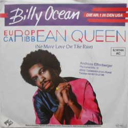 "винил LP BILLY OCEAN ""European Queen - European Queen (Instrumental)"" (7""single) (1984 German press, vg+/vg+)"