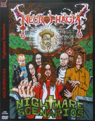 NECROPHAGIA ''Nightmare Scenarios'' (CD-Maximum press) (DVD)
