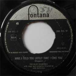 винил LP BLUE DIAMONDS with choir and orchestra directed by JACK BULTERMAN ''Have I Told You lately That I Love You - Save The Last Dance For Me'' (7''single) (1961? Holland press, sfc, g)