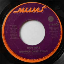 винил LP BOOMER CASTLEMAN ''Judy Mae - Three Feet High And Grown'' (7''single) (1975 USA press, sfc, vg+)