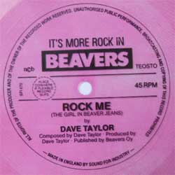 винил LP DAVE TAYLOR ''Rock Me (The Girl In Beaver Jeans)'' (7''single flexi, one sided) (1982 UK RARE PROMO press for Finland, vg+)