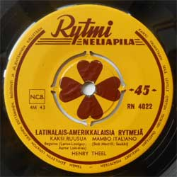 винил LP HENRY THEEL ''Latinalais-Amerikkalaisia Rytmeja'' (4-track 7''single) (1955 Finland press, sfc, vg)
