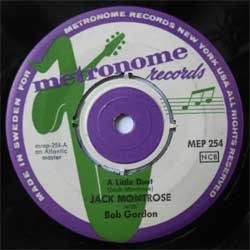 винил LP JACK MONTROSE with BOB GORDON ''A Little Duet - I'm Gonna Move To The Outskirts Of Town'' (7''single) (1957 Sweden press, sfc, vg)
