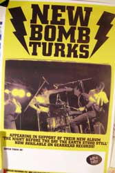 "NEW BOMB TURKS ""The Night Before The Day The Earth Stood Still"" афиша"