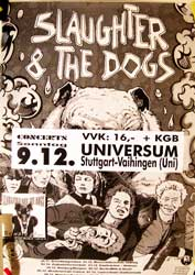 "SLAUGHTER & THE DOGS ""9.12.Universum. Stuttgart"" афиша"