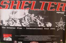 SHELTER ''The Greater Plan - Iternational Tour 2002''