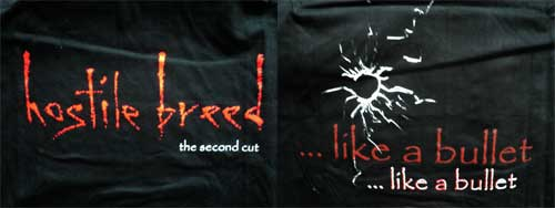 футболка HOSTILE BREED ''The Second Cut (…Like A Bullet)'' (XL) (F121)